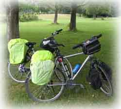 Our bikes geard for rain