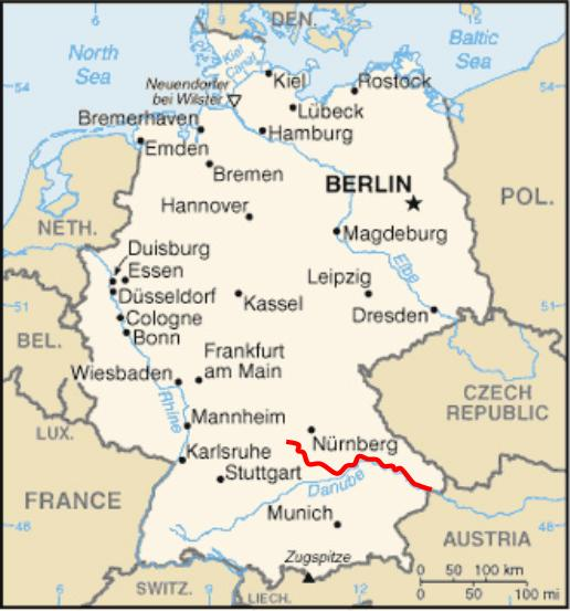 Altmühl - Rivers in germany