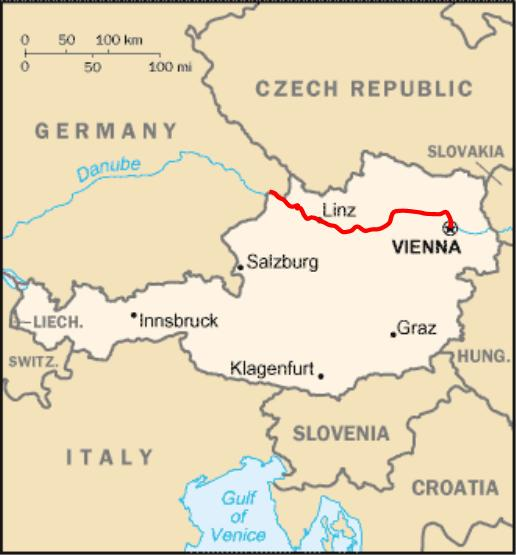 Austria By Bicycle: Map Of Danube River In Germany At Infoasik.co