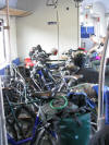 bikes loaded on the train home