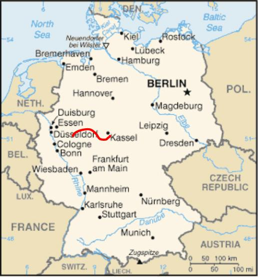 Eder River Bike Tour – Map of Germany Showing Rivers