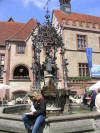 Gänseliesel fountain is sort of the symbol of Göttingen