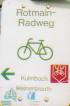 Red Main Cycle Path Sign