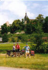 Breitungen Church and Cyclists